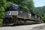 Pusher set for EB coal train