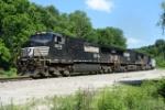 NS EB coal train on the Virginian mainline