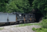 NS EB coal train on Virginian mainline