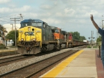 CSX 258 rolls West