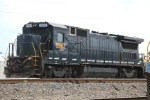 CSX 5962 which is ex-CR and NS looks like Darth Vader sitting in the Taft Yard
