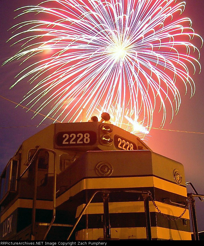 Local Assigned Locomotives With Fireworks