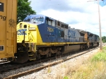CSX 7824 trailing behind 4831