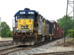 CSX 2631 & 6134 returning from working in NS's yard with the outbound autoparts cars for X500