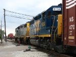 CSX 6134 & 2631 heading onto the Service Track in front of X500