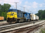 CSX 502 & 5965 leading Q335-19 into Plaster Creek