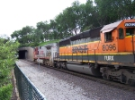 FURX 8096 - Ex BNSF Unit on a BNSF Train on the TRRA