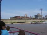 UP 8188 and 6402 from the Gateway Arch Riverboat