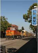 Freight train at Jack London Square