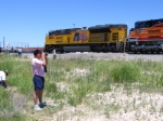 UP 8444 and railfan