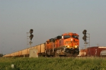 Empty hopper train splits the intermediates