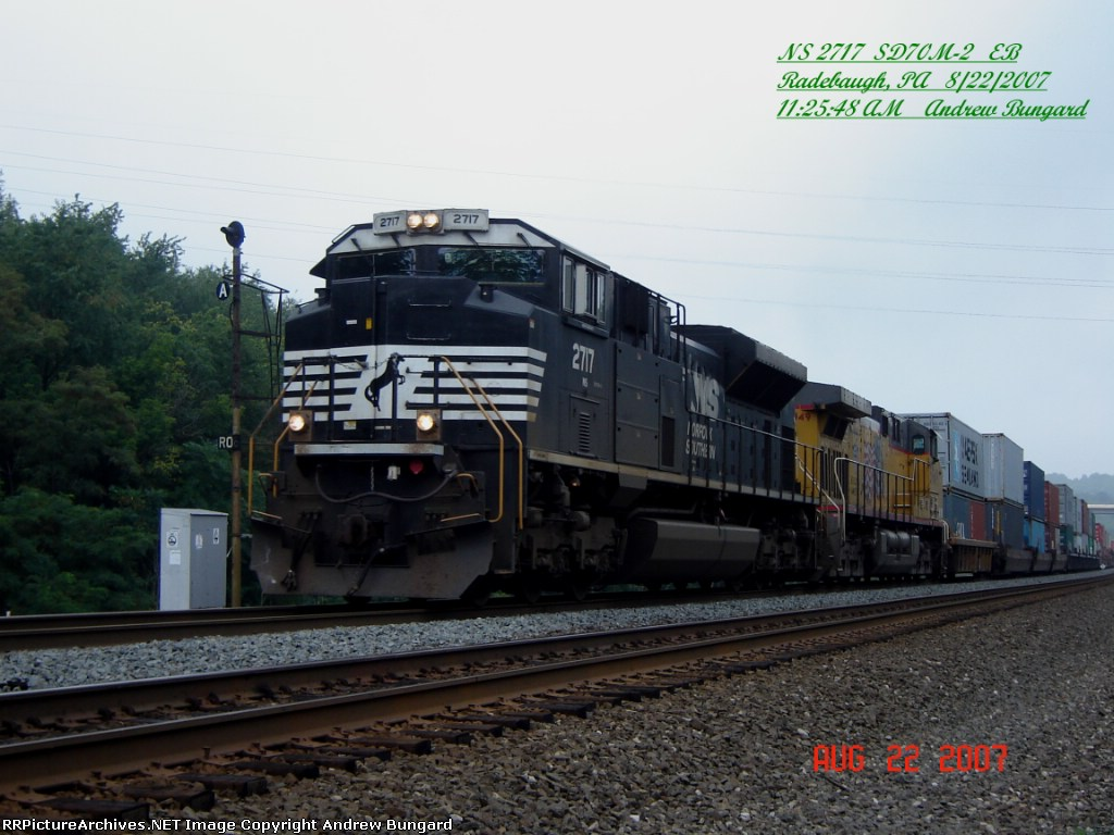 NS 2717      SD70M-2      August 22, 2007