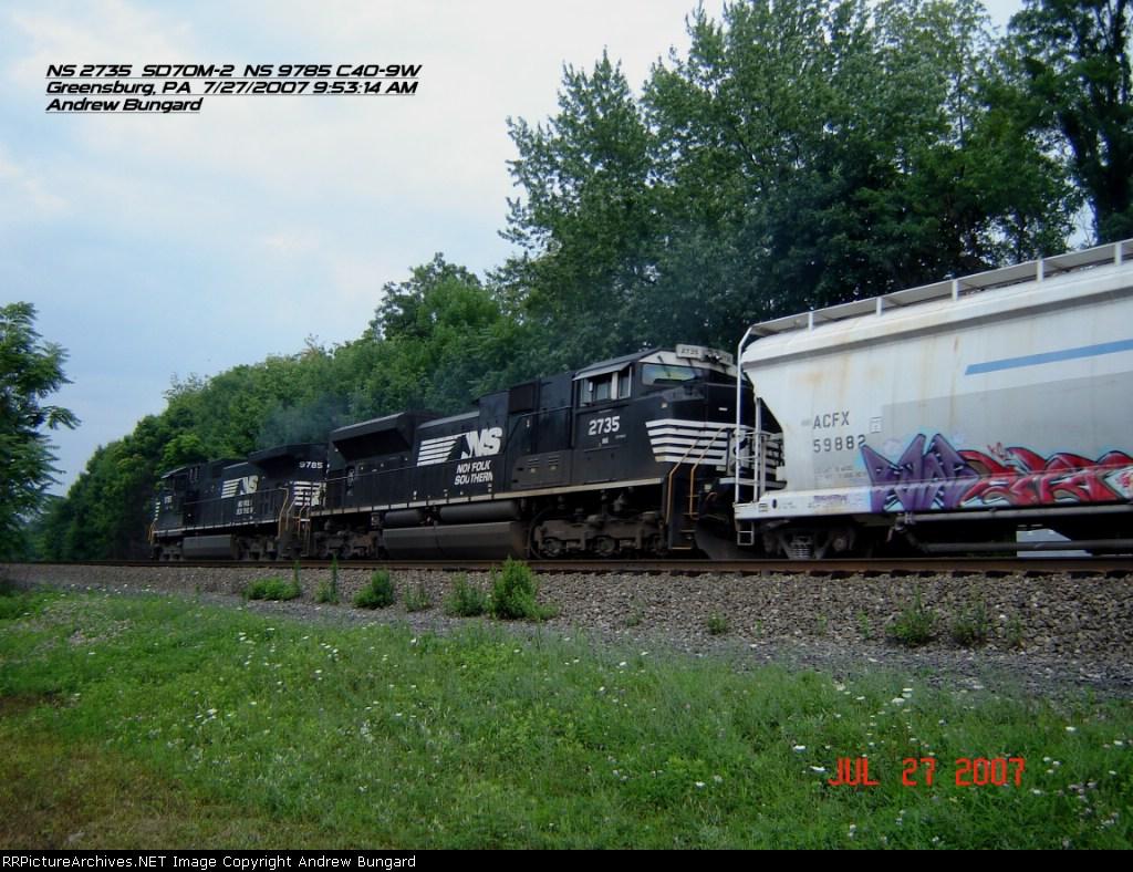 NS 2735     SD70M-2      July 27, 2007