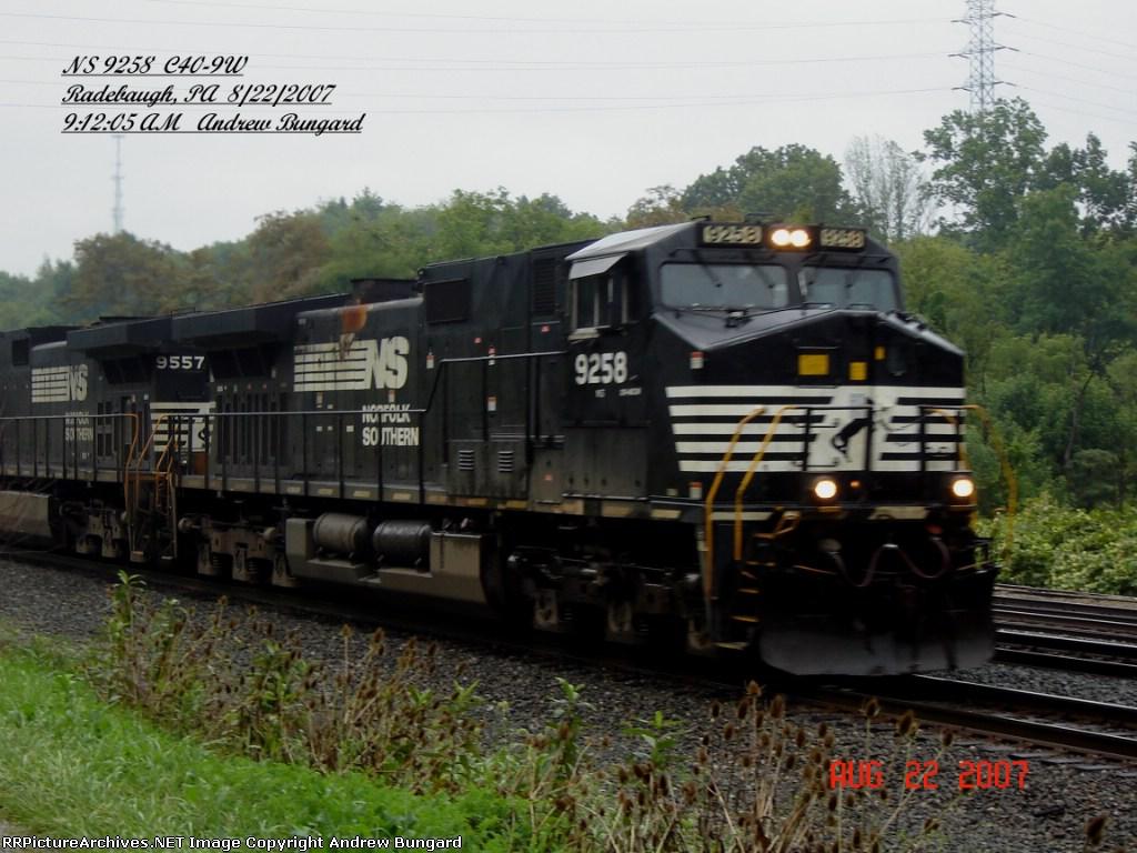 NS 9258      C40-9W      August 22, 2007