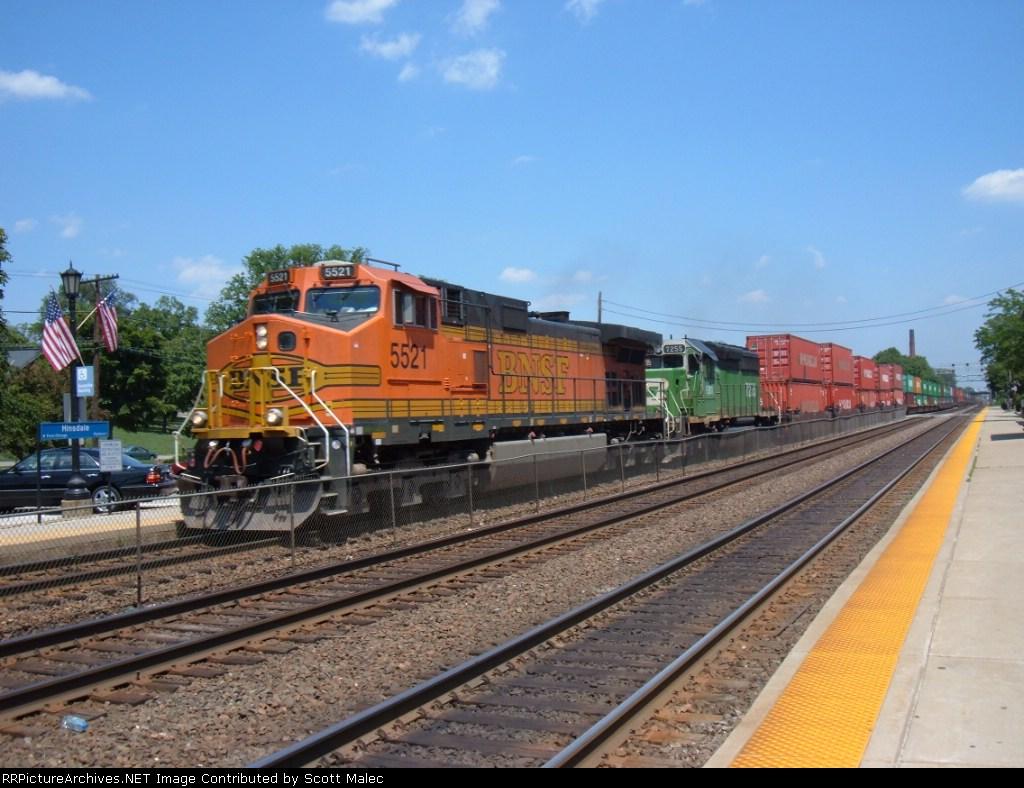 BNSF 5521 & FURX 7255