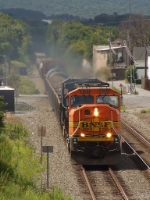 NS 34M with a BNSF SD75M