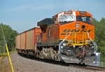 BNSF 5830 brings up the rear of an empty coal train