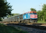 Metra 130 Leads Westbound Commuter into College Avenue Station