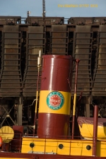 DM&IR logo on Stack of museum tug Edna G.