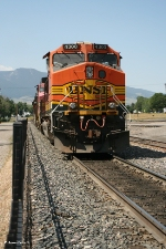 BNSF 4300 (Dash 9) moving west to add power to grain train consist