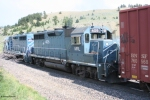 MRL 405 (GP35) follows it's sister unit towards Bozeman Tunnel