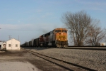 BNSF 9968. WB empty passing thru South Liberty