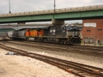 NS 7632 South of the BNSF flyover by the Union Station