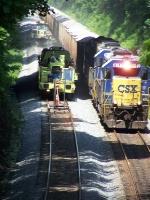 CSX 6153,passing by CSX rail MoW