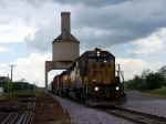 UP 2990, a patched ex-CNW engine, passed EB through the coaling tower