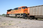 BNSF 9385 (SD70ACe) distributive power on a Black Thunder coal load