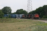 CN 8010 & 2232 rolling away from Olivers Yard with M348