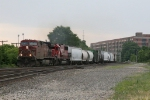 33T heading west behind CP 9574 and SOO 6052