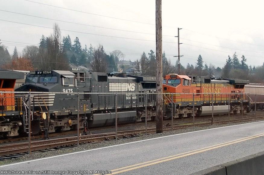 NS 9475 & BNSF 4689