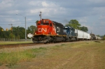 CN 6256 Leading Train on UP Lines