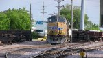 UP 5818 and an Espee patch are coal haulers for the generating station