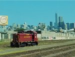 Chicago Terminal RR's SW8, formerly for their Goose Island District sits alone in the yard next to Metra's UP lines