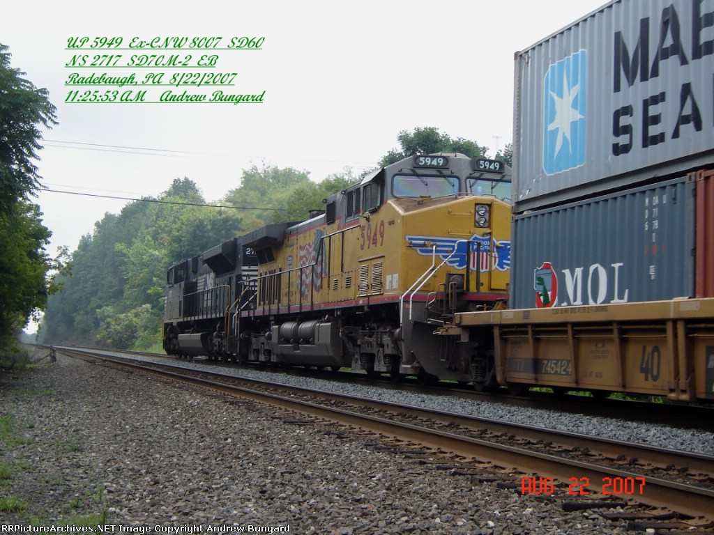 UP 5949     AC44CWCTE  Not SD60     August  22, 2007