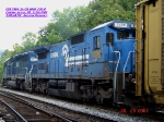 CSX 7496  Ex-CR 6040  C40-8    July 26, 2007