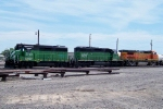 BNSF 2740, 6815, and 578
