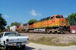 BNSF 5842 and 8221