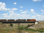 BNSF 5984 and BN 9621