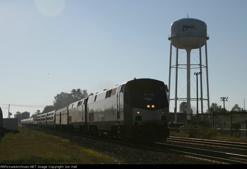 AMTK 157 & 6 rolling east with the Lake Shore Limited only an hour or so down