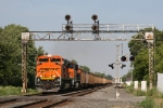 BNSF 9396 leading 681 under the signal bridge at CP367