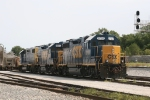 CSX 2707, 1501 & 2508 wait for their journey back to Avon later in the day
