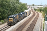 CSX 8459 on the point of J726 as it doubles its train together