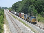 CSX 5237 leading Q378 down the lower track