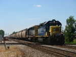 G830-06 rolling east behind CSX 8120 & 8037