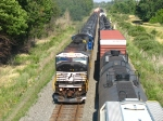 An NS and a CSX SD60M team up to move 15J westward