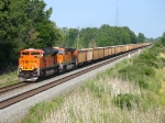 BNSF 9396 & 5850 rolling west with 681