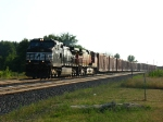 NS 9366 & BNSF 4406 rolling east on the point of 10R